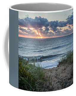Nauset Light Beach Sunrise Square Coffee Mug