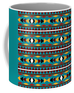 Navajo Teal Pattern Coffee Mug