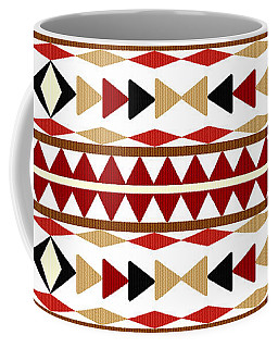 Navajo White Pattern Coffee Mug