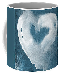 Navy Blue And White Love Coffee Mug