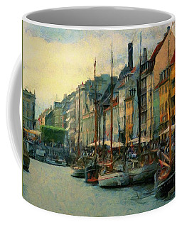 Nayhavn Street Coffee Mug by Jeff Kolker