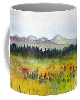 Nek Mountains And Meadows Coffee Mug by Donna Walsh