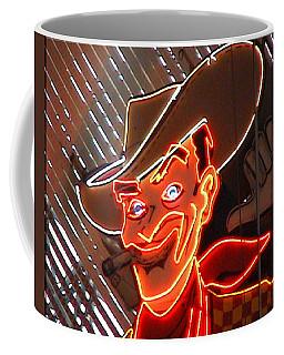 Neon Cowboy Of  Las Vegas Coffee Mug