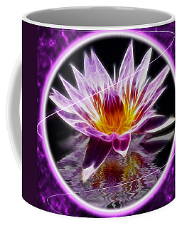 Neon Lotus Coffee Mug
