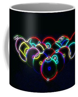 Neon Pool Balls Coffee Mug