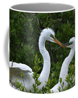 Coffee Mug featuring the photograph Nest Building by John F Tsumas