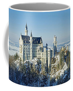 Neuschwanstein Castle Panorama In Winter 2 Coffee Mug