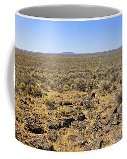 Coffee Mug featuring the photograph Nevada Desert Panorama by Mark Greenberg