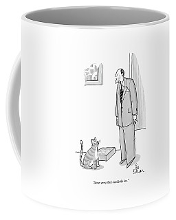 Never, Ever, Think Outside The Box Coffee Mug by Leo Cullum
