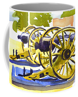 Coffee Mug featuring the painting New Cannon by Kip DeVore