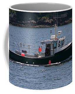 Coffee Mug featuring the photograph New England Fishing Boat by Denyse Duhaime