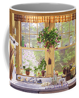 New England Kitchen Window Coffee Mug