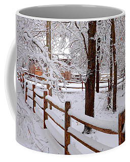 New England Winter Coffee Mug