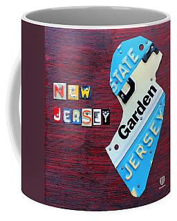 New Jersey License Plate Map Coffee Mug
