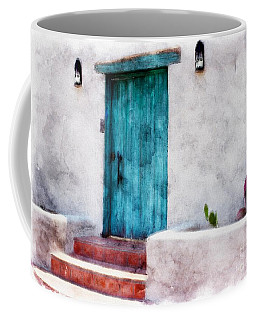 New Mexico Turquoise Door And Cactus  Coffee Mug