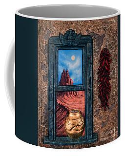 New Mexico Window Gold Coffee Mug
