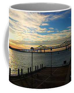 Coffee Mug featuring the photograph New Orleans Bridge by Erika Weber