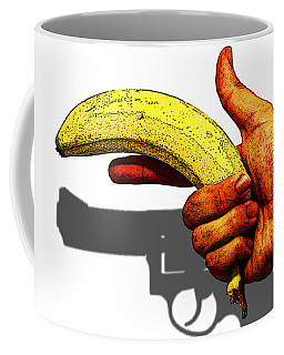 New Photographic Art Print For Sale   Hand Gun Against A White Background Coffee Mug