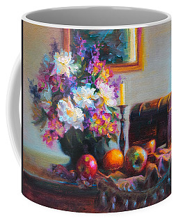 Coffee Mug featuring the painting New Reflections by Talya Johnson