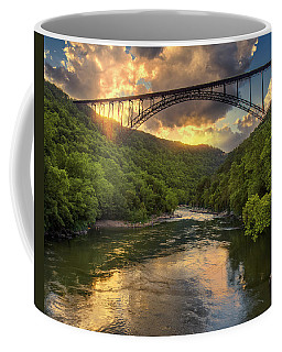 New River Evening Glow Coffee Mug by Mary Almond