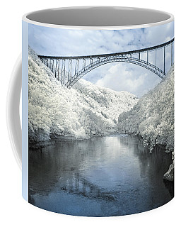 New River Gorge Bridge In Infrared Coffee Mug by Mary Almond