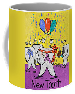 Coffee Mug featuring the painting New Tooth by Anthony Falbo