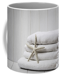 New White Towels Coffee Mug
