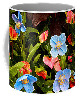 New World And Old World Exotic Flowers Coffee Mug
