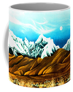 New Years Moonrise Qver Cojata Peru Bolivian Frontier Coffee Mug by Anastasia Savage Ealy