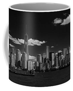 New York 1 Black And White Coffee Mug