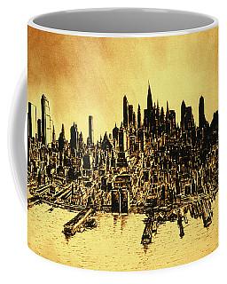 New York Skyline 78 - Mid Manhattan Ink Watercolor Painting Coffee Mug