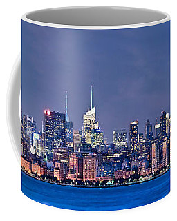New York Blue Hour Panorama Coffee Mug by Delphimages Photo Creations