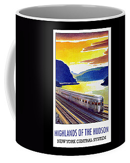 Coffee Mug featuring the digital art New York Central Vintage Poster by Denise Beverly