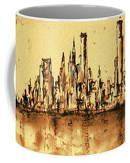 New York City Skyline 79 - Water Color Panorama Coffee Mug