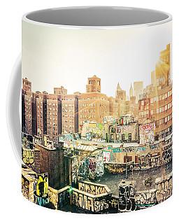 New York City - Graffiti Rooftops Of Chinatown At Sunset Coffee Mug