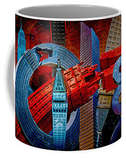 Coffee Mug featuring the photograph New York City Park Avenue Sculptures Reimagined by Chris Lord