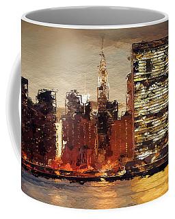New York City Skyline Abstract 2 Coffee Mug by Anthony Fishburne