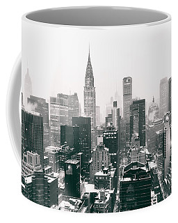 New York City - Snow-covered Skyline Coffee Mug
