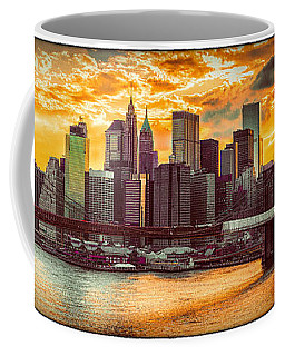 Coffee Mug featuring the photograph New York City Summer Panorama by Chris Lord