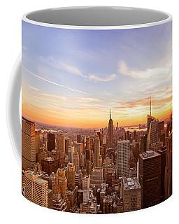New York City - Sunset Skyline Coffee Mug