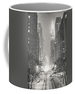 New York City - Winter Night Overlooking The Chrysler Building Coffee Mug