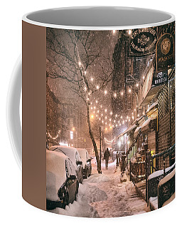 New York City - Winter Snow Scene - East Village Coffee Mug
