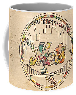 New York Mets Poster Vintage Coffee Mug