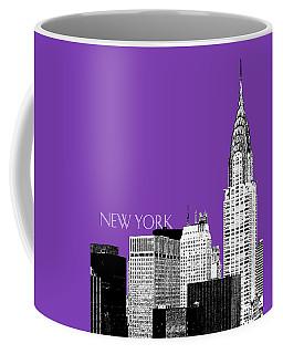 New York Skyline Chrysler Building - Purple Coffee Mug