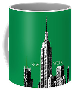 New York Skyline Empire State Building - Forest Green Coffee Mug