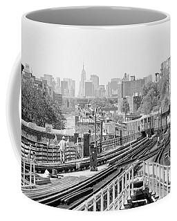 Coffee Mug featuring the photograph New York Skyline From Bronx by Dave Beckerman