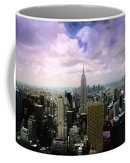 Coffee Mug featuring the photograph New York City Skyline - Infrared - Color by Dave Beckerman