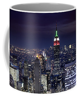 New York Skyline Night Color Coffee Mug