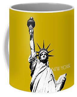 New York Skyline Statue Of Liberty - Gold Coffee Mug