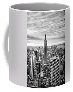 Black And White Photo Of New York Skyline Coffee Mug